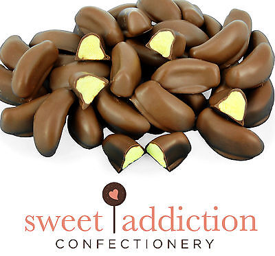 250g Premium Milk Chocolate Covered Bananas - Bulk Bag Lollies - Sweet Addiction