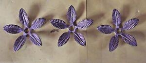 3-Ancien-elements-Tete-lustre-Feuille-relief-Bronze-retro-tendance-deco-fleur