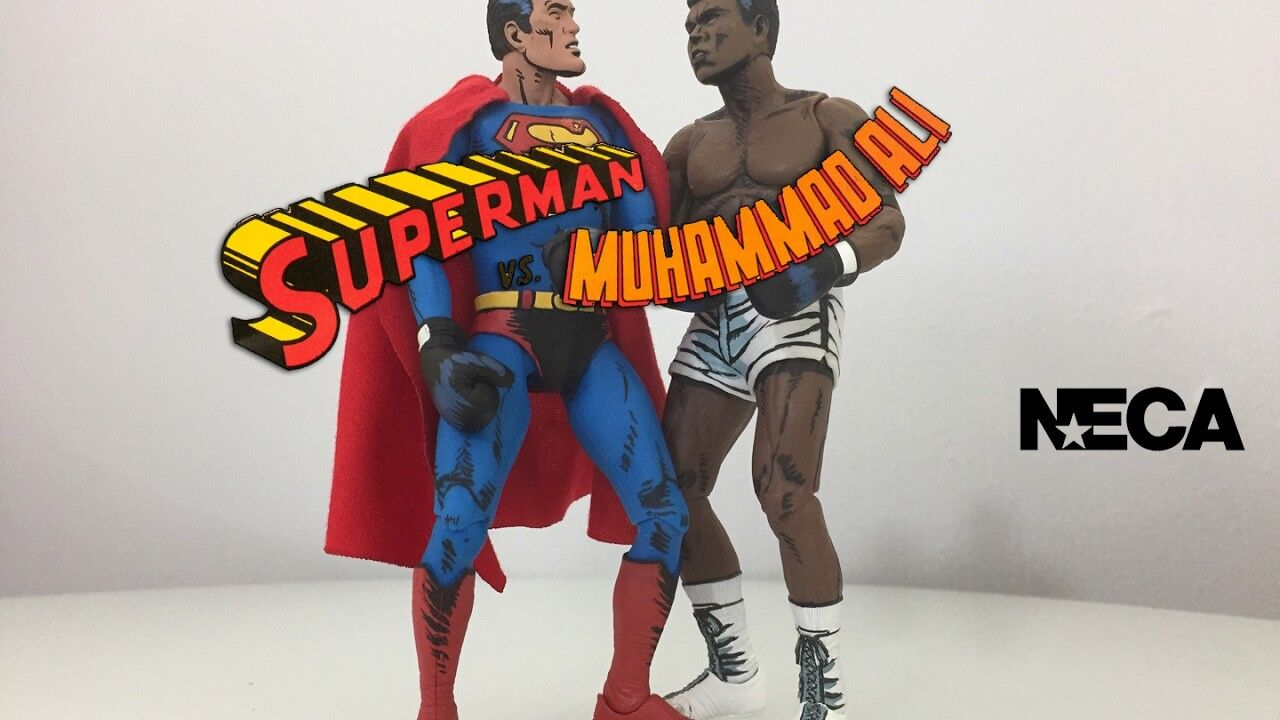 DC Comics azione cifras 2 pack Superuomo vs Muhammad Ali Cassius Clay NECA