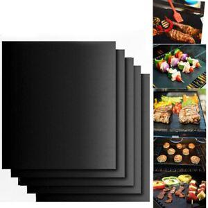 2pcs BBQ Grill Mat Accessories Non-Stick Reusable Pads Heat Resistant Baking Pad