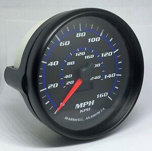 "Marshall C2 Blueline 5"" In Dash Speedometer, 0-160 MPH, Black Bezel, 2154BLK"