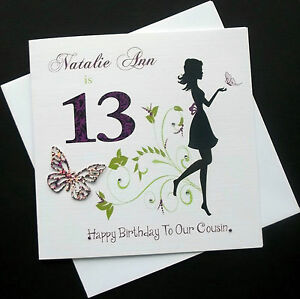 Handmade-Personalised-Teenage-Fairy-Cards-9-10-11-12-13-14-15-16-17-any-name