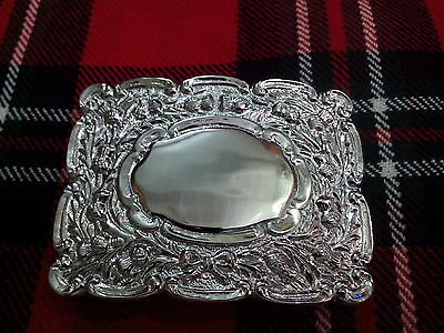 CC Scottish Kilt Belt Buckle Matt Oval Design with Thistle Badge Antique Finish