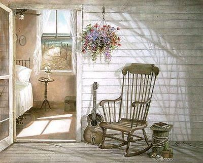 Ruane Manning: Salt Air & Music Fertig-Bild 20x25 Landhaus Vintage Shabby Deko