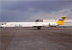 LA TUR AIRLINES McDONNELL DOUGLAS MD83 XA-TUR C/N 49642/1421 SCHIPHOL POSTCARD