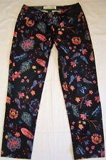 CECIL Blüten bedruckte Damen Stretch Jeans Charlize- 28 inch wie neu !! 7/8 lang