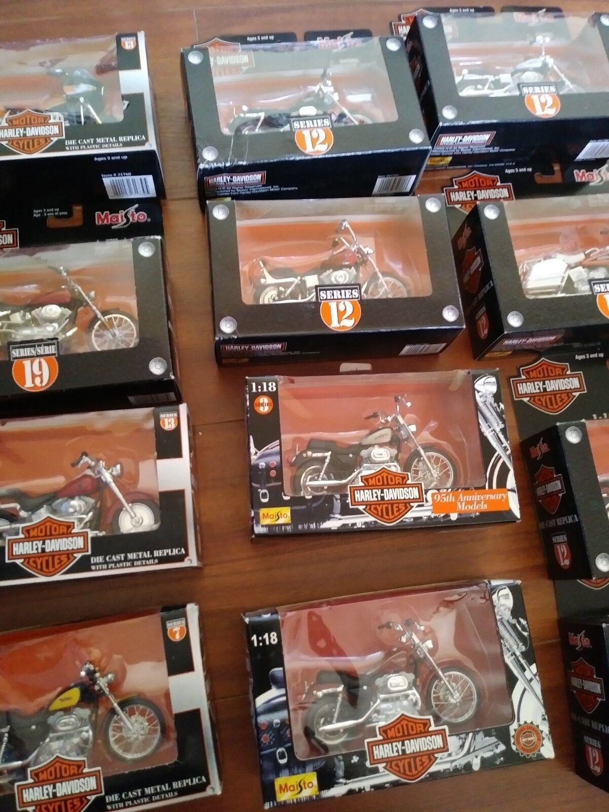 Maisto Harley Harley Harley Davidson 1 18 Lot of 16 Free Shipping b0f4b7