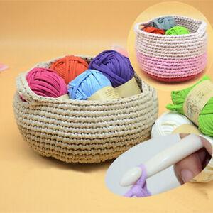 LN-QA-DIY-Crochet-Cloth-Carpets-Yarn-Cotton-Wool-hand-knitted-Thick-Knit-Bla