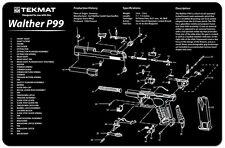 WALTHER P99 9MM PISTOL GUN CLEANING GUNSMITH BENCH SOFT AIR REPAIR MAT TEKMAT