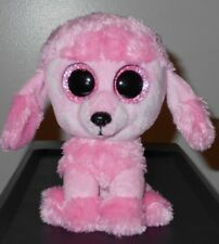 item 1 NT  Ty Beanie Boos ~ PRINCESS the Pink Poodle Dog (Glitter Eyes) 6