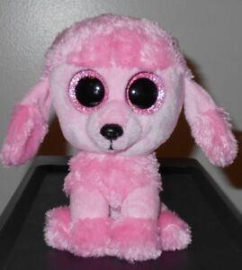 7f9137fedd6 NT  Ty Beanie Boos ~ PRINCESS the Pink Poodle Dog (Glitter Eyes) 6 ...