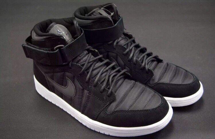 Nike Air Jordan 1 High Strap negro hombre / negro Pure Platinum hombre negro SZ 10,5 (Brand Nuevo) 8f6657