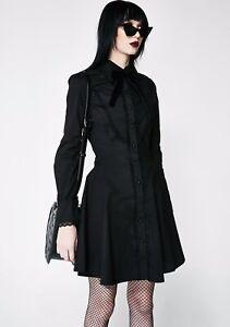 KILLSTAR Tombstone Tourist Dress DOLLS KILL DISTURBIA Goth Lolita Corset Punk XL
