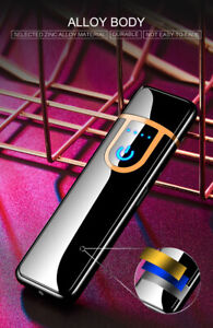 USB-Smart-Touch-Sensor-Cigarette-Lighter-Electric-charge-Double-Arc-Flameless-nz