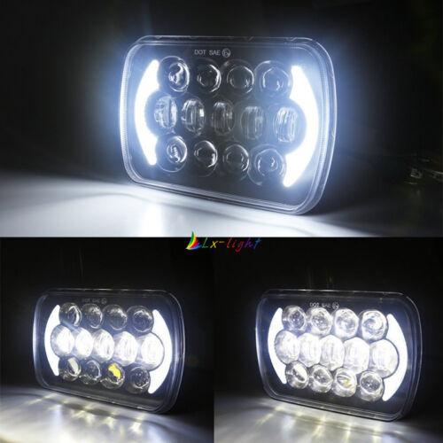 "DOT 5x7/"" 7x6/"" High Low Beam Led Headlight for Jeep Wrangler YJ Cherokee XJ H6054"