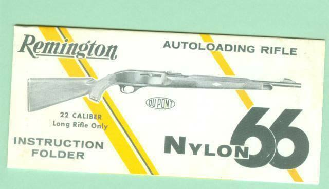 Remington Model Nylon 66 1950 S Factory Owners Instructions Manual Reproduction