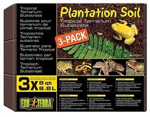 EXO-TERRA-PLANTATION-SOIL-3-PACK-REPTILE-FROG-VIVARIUM-SUBSTRATE-FLOORING-PT2771
