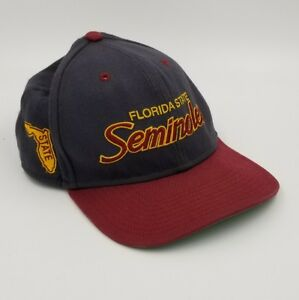 new product 477d7 3cdb3 Image is loading Rare-Vintage-90s-Florida-Seminoles-FSU-Nike-Snapback-