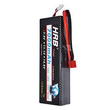 HRB 7.4V 7000MAH 30C-60C Lipo Battery Hard Case Car RC 1:8 1:10 E-REVO SUMMIT