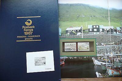 Jahrbuch 1987 Kpl Postfrisch Inkl Lim Erfinderisch FÄrÖer Inseln * Foroyar 1 Schwarzdruck Harmonische Farben