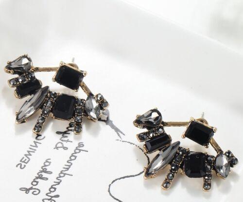1 Paire Élégant Multi cristal Strass Ear Drop Dangle Stud Long Boucles D/'oreilles 146