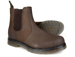hombres cuero de para Chelsea Premium cera Cx01ed marrón Botas Rgxq4