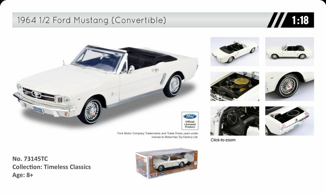 Die-Cast (1 18)  1964 1 2 Ford Mustang (ConGrünible) (No.73145TC)