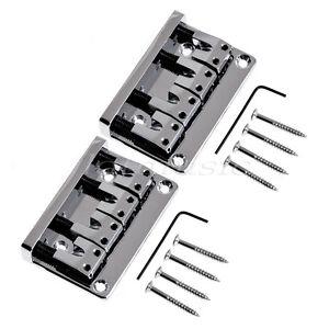 2-Chrome-4-String-Bridge-For-Bass-Guitar-L-Shape-Saddle-Parts-Spacing-18mm
