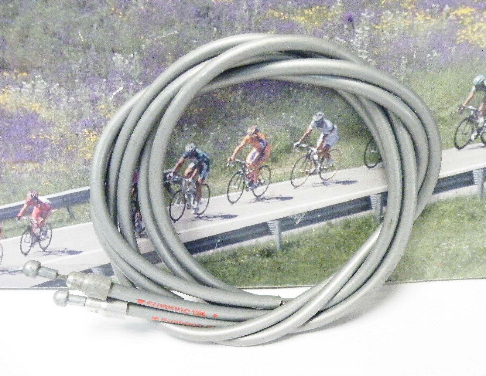 Shimano 600AX aero grey cable set  with stoppers 1982  inexpensive