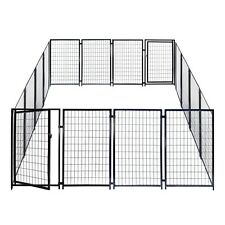 ALEKO Dog Kennel Heavy Duty Pet Playpen 10'X10'X4' Exercise Fence Hens Coop