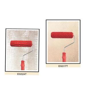 7 Pulgadas Rodillo de Pintura en Relieve Modelo Piedra de Grano Mango Pl/ástico Decoraci/ón para Pared