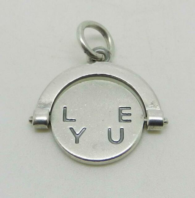 JAMES AVERY RETIRED STERLING SILVER I LOVE YOU SPINNER CHARM - RARE - LB-C1839