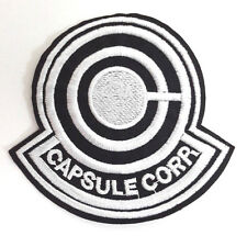 """Dragonball Z Capsule Corp Anime Embroidered 3.5"""" Patch- FREE S&H  (DZPA-001)"""