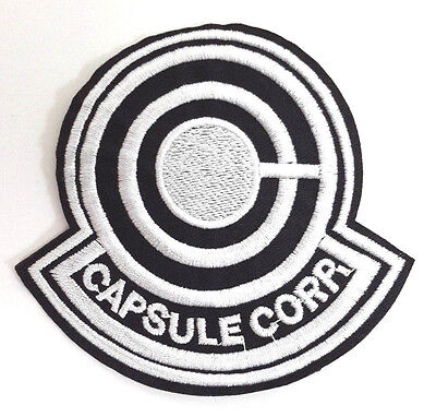 """DELUXE Dragonball Z Capsule Corp Anime Embroidered 3.5"""" Patch (DZPA-001-D)"""