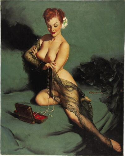 Gil Elvgren Fascination Giclee Canvas Print Paintings Poster Reproduction