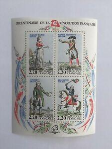 Bloc-YT-BF-10-neuf-1989-Bicentenaire-de-la-Revolution-francaise