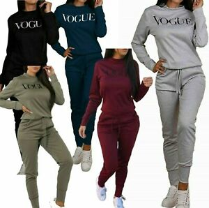 Ladies Comfy 2PCS Oversize Tracksuit Long Sleeves Blouse Longline Shirt Trousers