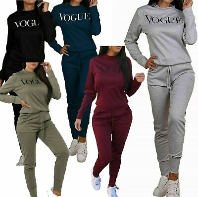 Ladies grey vogue print tracksuit// loungewear