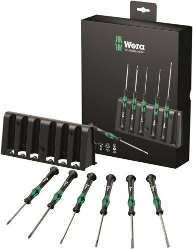 Wera Micro 2035/6 B Precision Screwdriver Set With Rack 05118152001
