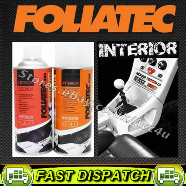 Foliatec Car Interior Dashboard Door Plastic Pvc Vinyl Sealer Primer Spray Can