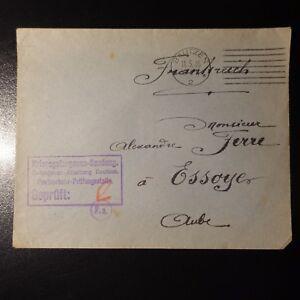Lettre Cover Prisonnier De Guerre Cad Bautzen 1916 -> Essoyes