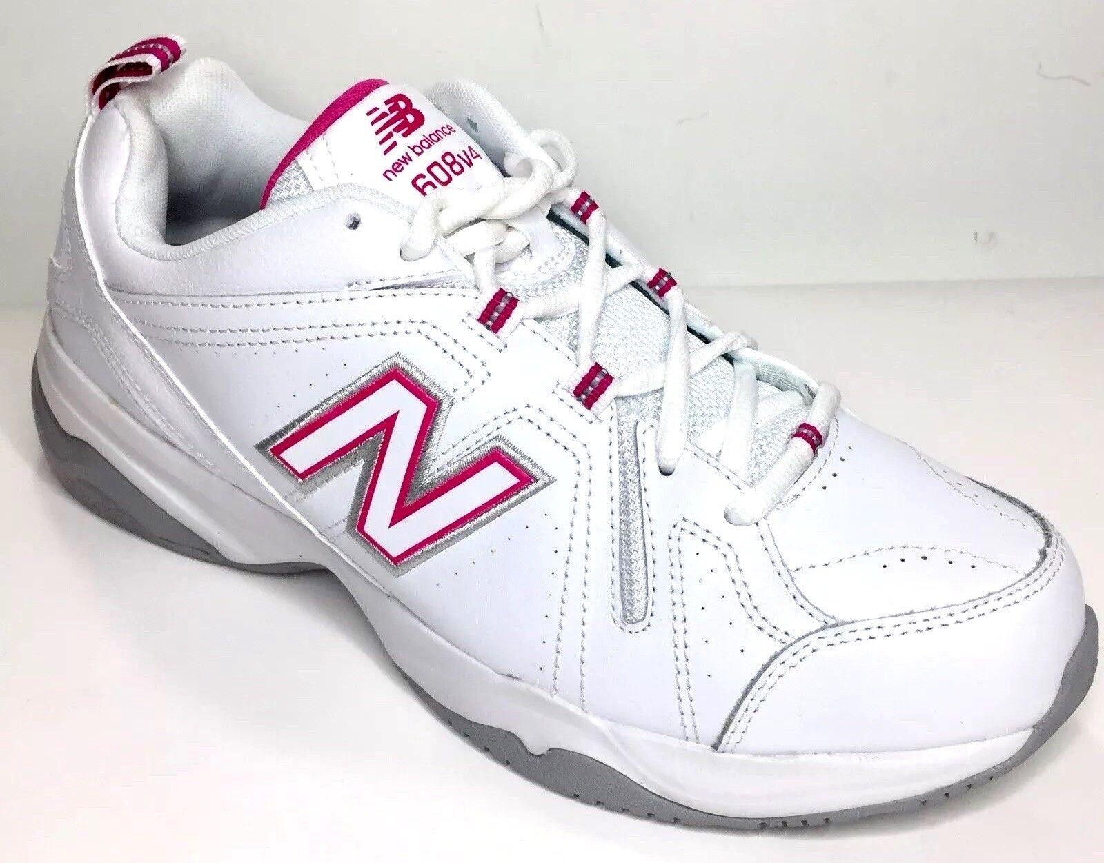 New Balance WX608V4 Walking shoes White Pink Women's Size 10