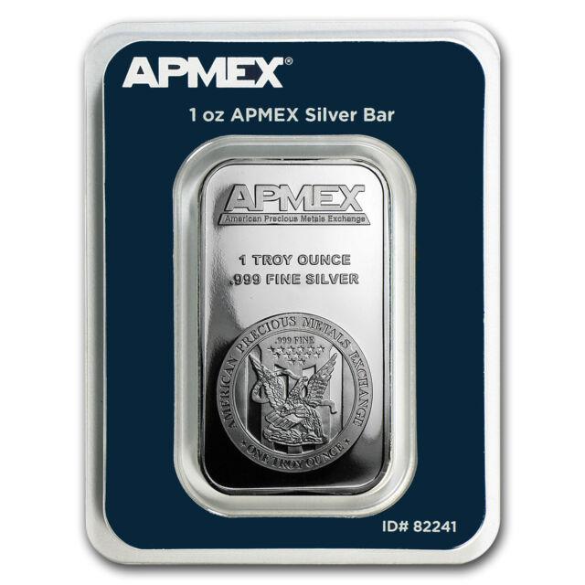 1 Oz Silver Bar Apmex In Tep Package Sku 82241