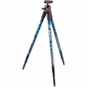 Manfrotto-Off-road-Aluminum-Tripod-with-Ball-Head-Blue-Mfr-MKOFFROADB
