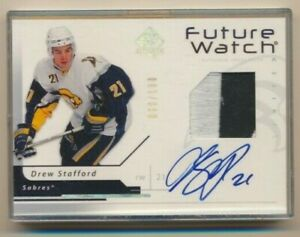 2006-07-SP-Authentic-Future-Watch-Rookie-Patch-AUTO-168-Drew-Stafford-100