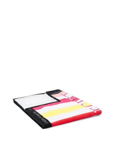 VICTORIA/'S SECRET vsx sport STRIPED pink yellow stripe SUMMER TOWEL BEACH 2018