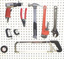Plastic White Peg Board Hook Kit Tool 50 L & 50 J PEGBOARD NOT INCLUDED