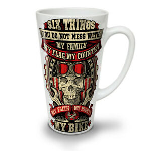 Biker Skull Family NEW White Tea Coffee Latte Mug 12 17 oz   Wellcoda