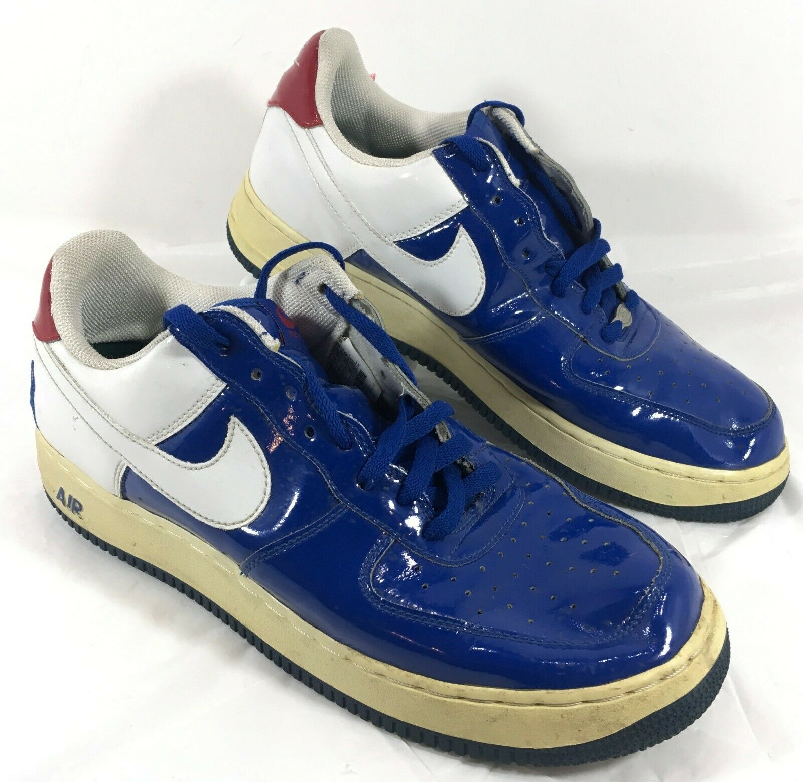 GUC 2006 Men's Nike Air Force 1 bluee White Red Basketball shoes low top Sz 12