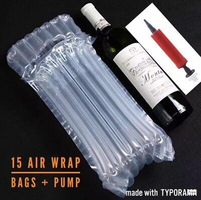 9 Packs Red Wine Air Bag Buffer Packaging 7 Column Red Wine Inflatable Bubble Bag Red Wine Air Bag Packaging